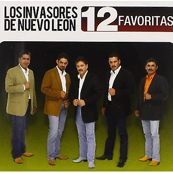 Invasores De Nuevo Leon - 12 Favoritas [CD] USA import
