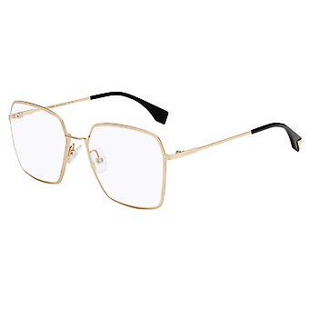 Fendi Eyeline FF0333 J5G Gold Glasses