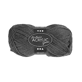 50g 3-Ply Grey Acrylic Yarn for Kids Knitting and Sewing Crafts