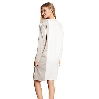 フェロー ハイクラス 3201216-16800 女性&アポス;s アイボリー-グレイジュ コットン ナイトドレス