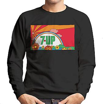 7up Vintage 70s Sunset Men's Sweatshirt 7up Vintage 70s Sunset Men 's Sweatshirt
