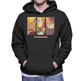 An American Tail Papa And Fievel Embrace Men's Hooded Sweatshirt