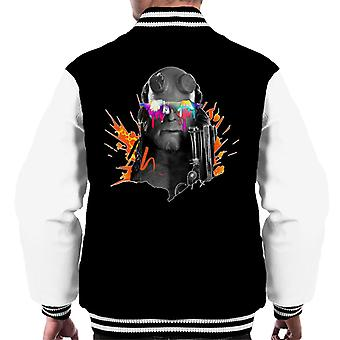 Hellboy II Paint Splatter Men's Varsity Jacket