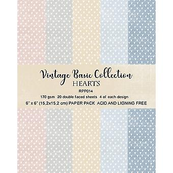 Reprint Hearts Basic 6x6 Inch Collection Pack
