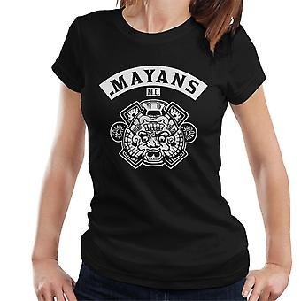 Mayans M.C. Motorcycle Club Face White Logo Emblem Women's T-Shirt
