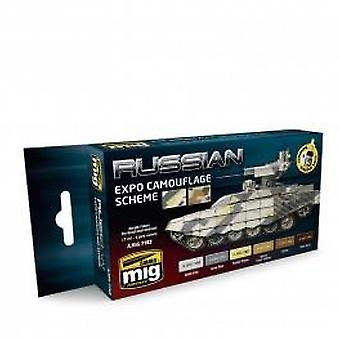 Ammo by Mig Russian Expo Camouflage Scheme Acrylic Paint Set