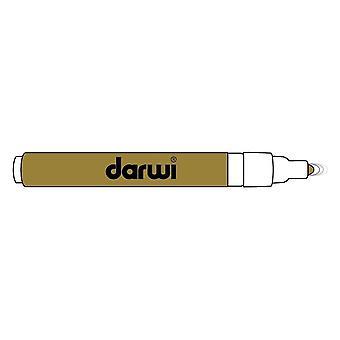 Darwi Acryl Opak Marker Thin Point 3 ml Gold