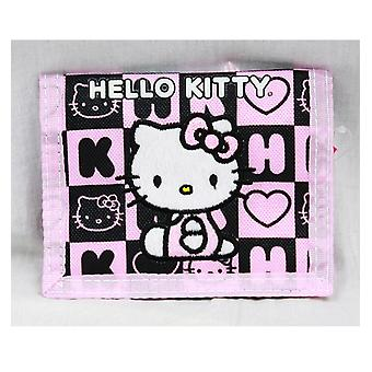 Trifold Wallet - Hello Kitty - Black Box Checker Gift Licensed 82354