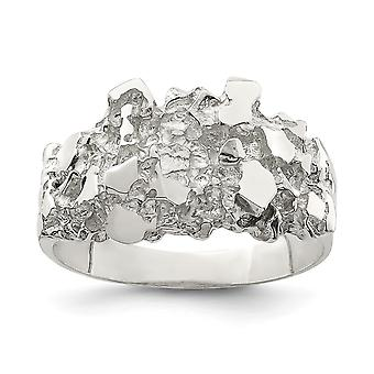 925 Sterling Silver Mens Nugget Ring Jewelry Gifts for Men - Ring Size: 9 to 11