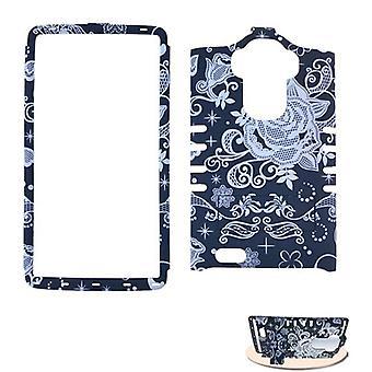 Rocker Series Snap-On Case pour LG G Stylo LS 770 (Fleurs sur Noir)