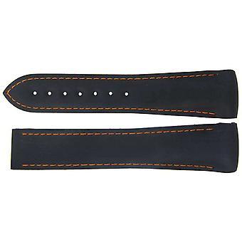 Autentyczny pasek do zegarka omega 22mm rubber - czarna wdrożenia wcp85443