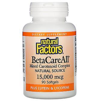 Natural Factors, BetaCareAll, 15,000 mcg, 90 Softgels
