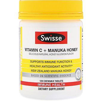 Swisse, Ultiboost, Vitamin C + Manuka Honey, Delicious Natural Honey & Lemon Fla