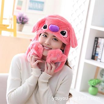 Cute Animated Bunny Hat With Funny Light From Cartoon Plush Toys For Kids