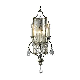 3 Licht Indoor Candle Wall Light Silver, E14