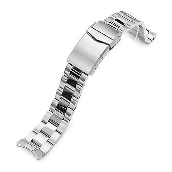 سوار ساعة Strapcode 20mm سوبر س بوير 316l الفولاذ المقاوم للصدأ مشاهدة الفرقة لsko sarb035، نحى ومصقول الخامس شبك