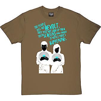 O povo não vai revoltar homens verdes militares e apos;camiseta