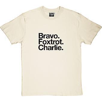 Blackpool FC: Bravo Foxtrot Charlie Natural Men's T-Shirt