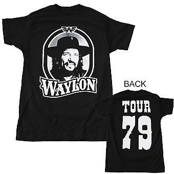 Waylon Jennings T Shirt Waylon Jennings Tour 79 Black T-Shirt