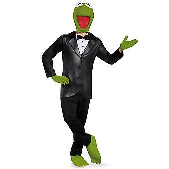 Kermit smoking Deluxe Vestido de Disney los Muppets Frog hombres adultos traje XL
