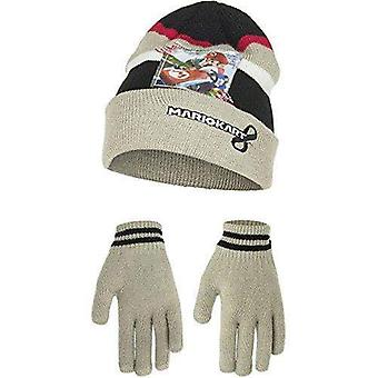 Super mario boys hat and gloves set