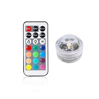 Battery Operated Waterproof Rgb Submersible Led Light Underwater Night Lamp