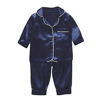 Vêtements pour enfants Baby Pajama Sets Solid Color Outfits Long Sleeve Blouse