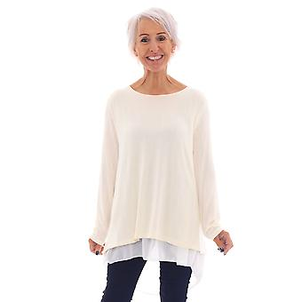 Made In Italy Bow Back Top