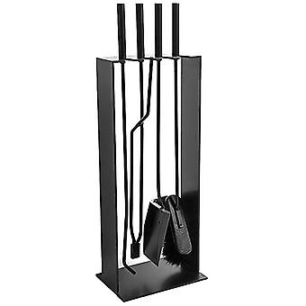 Conmoto 4pcs. Fire irons 2 black steel Fireplace Suite - Norma