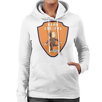 Curious George Camp Badge Women's Hooded Sweatshirt