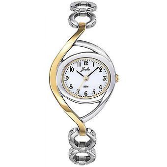Horloge Certus 634019-JOALIA Steel Bicolore Silver en dor Cadran blanke vrouwen
