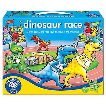 Juego de carreras de dinosaurios de los juguetes del huerto