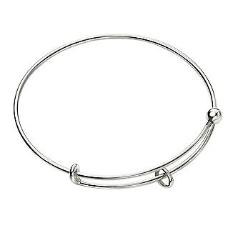 Anfänge 925 Sterling Silber Damen ' verstellbare Charme Silber Armreif