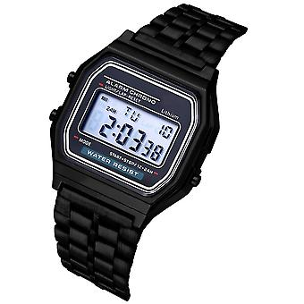 Digital, ultratynd stål, led elektronisk armbåndsur lysende ur Montre