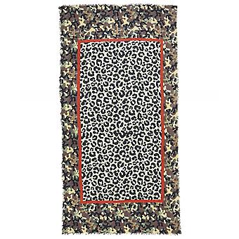 Ahujasons Animal Print Camouflage Trim Scarf