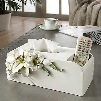 Resin Lovely Lily Tissue Box