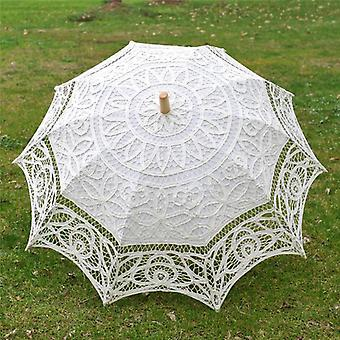 Bride Wedding Umbrella Handgemaakt borduurwerk Kant Parasol Scene Layout Interieur