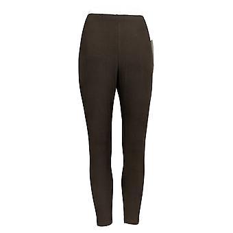 Kvinder med Kontrol Petite Leggings Fit Pull-On Strik Brown A235952