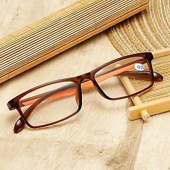 tr90 ultralette lesebriller, klare linsebriller og leserbriller +1,5 2,0