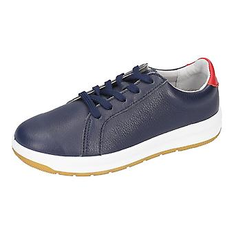 RICOSTA Leather Laced Trainer Style Shoe