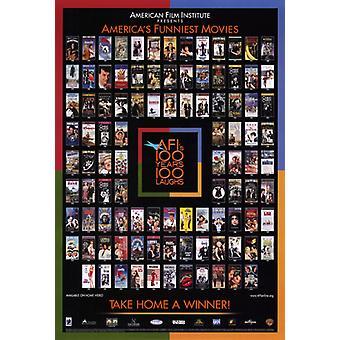 AFI - 100 anos de risos filme Poster Print (27 x 40)
