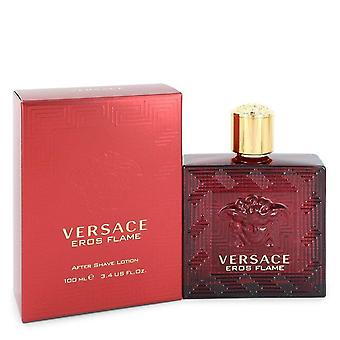 Versace Eros Flame After Shave Lotion By Versace 3.4 oz After Shave Lotion