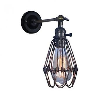 Wrought Iron Metal Cage Wall - Lampshade Pendant Light, Bulb Guard Clamp