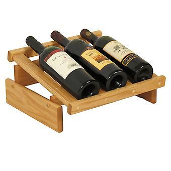 Rovere di legno 3 bottiglia Dakota Wine Display, Rovere Chiaro