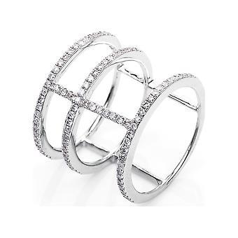 Luna Creation Leger Ring Multiple Stone Trim 1F969W853-4 - Ring width: 53