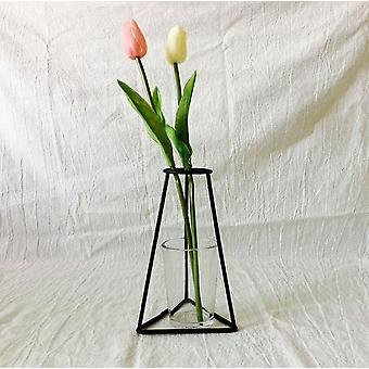 Retro Iron Line Flowers Vase, Plant Holder Home Decor