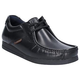 Base Event Mens Leather Formal Shoes Black UK Size