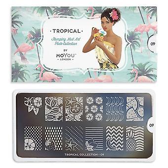 MoYou London Nail Art Image Plate - Tropical 09 (692725)