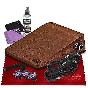 Meinl percussion analogique stomp box avec kit d'entretien de guitare universel, câbles 1/4'' 15', et chiffon de nettoyage en microfibre fibretique