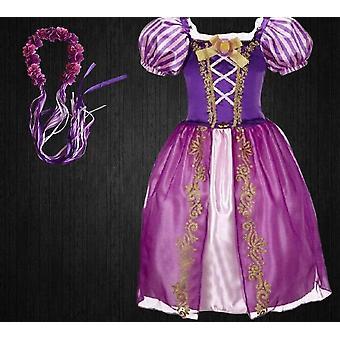 Girls Princess Rapunzel Dress, Summer Infant Halloween Carnival Costume
